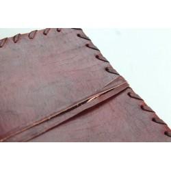 copy of 2. Wahl: Notizbuch mit Echtledereinband Randverzierung 18x14 cm