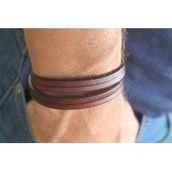 Leather bracelet men leather strap 19.5 cm