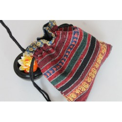 Sack pouch made of fabric Hmong / Hill Tribe