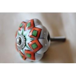 Möbelknopf Keramik handbemaltt