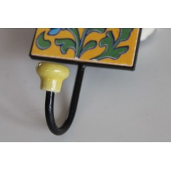copy of Wall hook Kitchen hook with hand-painted tile
