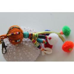 Schlüsselanhänger Taschenanhänger Wollknäul
