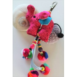 copy of Keychain bag charm elephant