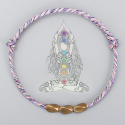 copy of Tibetan brass bead bracelet happiness bracelet wine red