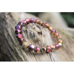 Facettiertes Perlenarmband Multicolor Glasschliffperlen Glasschliff