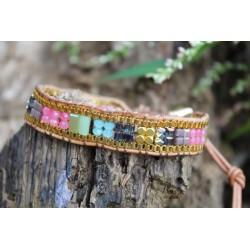 copy of Wrap bracelet three-ply rhodonite beads bracelet yoga meditation healing effect