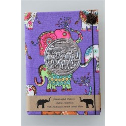 copy of Diary notebook fabric Thailand with elephant 11x11 cm - THAI-S-011