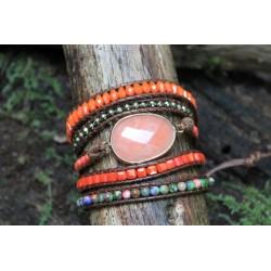 copy of Wrap bracelet fivefold yellow jade crystal bracelet yoga meditation gift girlfriend