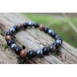 Hematite Obsidian Tiger Eye Protection Bracelet Triple Protection Healing Meditation Healing Effect