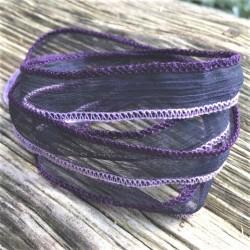 Seidenarmband Wickelarmband Seidenband Violett/Blau