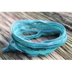 Seidenarmband Wickelarmband Seidenband grünlich
