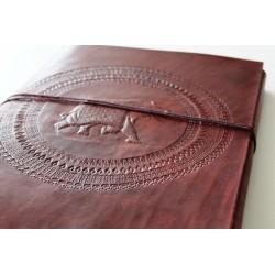 2. Wahl: Fotoalbum Leder mit Elefanten Motiv 34x27 cm