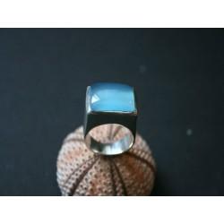 Silberring blauer Onyx