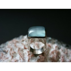 Silberring hellblauer Onyx