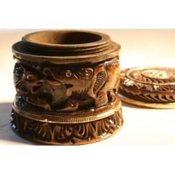 Holzdose aus Naturholz - 7 cm (MITTEL)