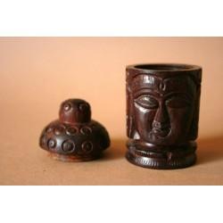Holzdose Buddha geschnitzt (groß)
