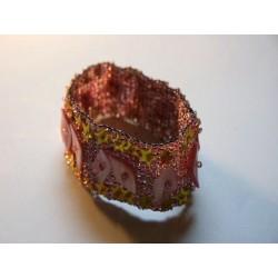Elastisches Armband rosa/gold