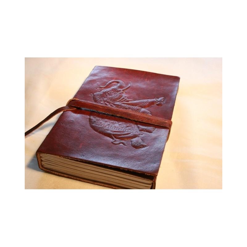 Tagebuch in Leder mit Elefantenmotiv