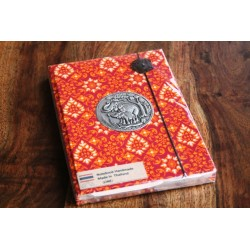 Diary fabric Thailand with elephant 19x14 cm - THAI001