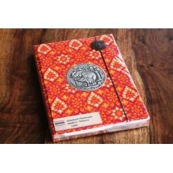 Tagebuch Stoff Thailand mit Elefant 19x14 cm- THAI001