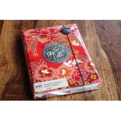Diary fabric Thailand with elephant 19x14 cm - THAI002