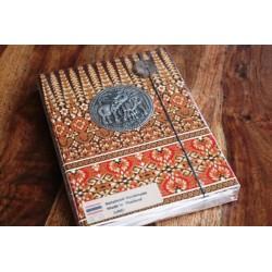 Tagebuch Stoff Thailand mit Elefant 19x14 cm- THAI003