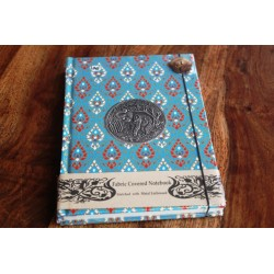 Diary fabric Thailand with elephant 19x14 cm - THAI004