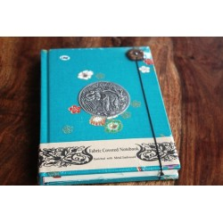 Tagebuch Stoff Thailand mit Elefant 19x14 cm- THAI005