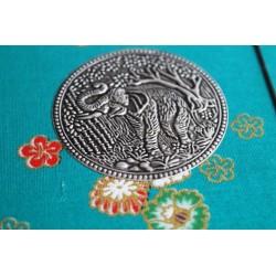 Diary fabric Thailand with elephant 19x14 cm - THAI005