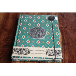 Diary fabric Thailand with elephant 19x14 cm - THAI006