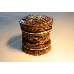 Holzdose aus Naturholz - 5 cm (KLEIN)