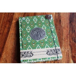 Diary fabric Thailand with elephant 19x14 cm - THAI007