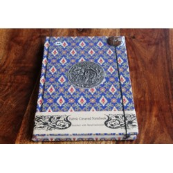 Diary fabric Thailand with elephant 19x14 cm - THAI008