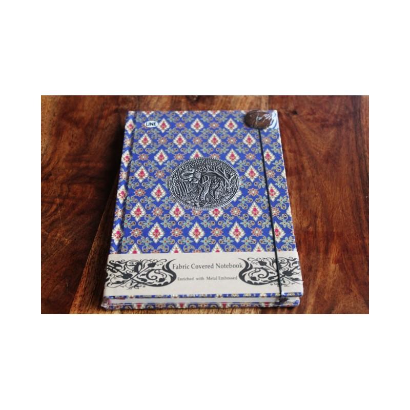 Tagebuch Stoff Thailand mit Elefant 19x14 cm- THAI008