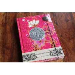 Tagebuch Stoff Thailand mit Elefant 19x14 cm- THAI009