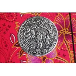 Diary fabric Thailand with elephant 19x14 cm - THAI009
