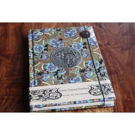 Tagebuch Stoff Thailand mit Elefant 19x14 cm- THAI010