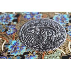 Diary fabric Thailand with elephant 19x14 cm - THAI010