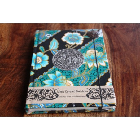 Tagebuch Stoff Thailand mit Elefant 19x14 cm- THAI011