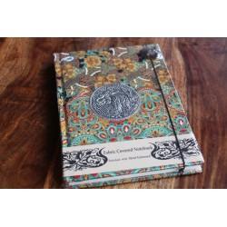 Tagebuch Stoff Thailand mit Elefant 19x14 cm- THAI012