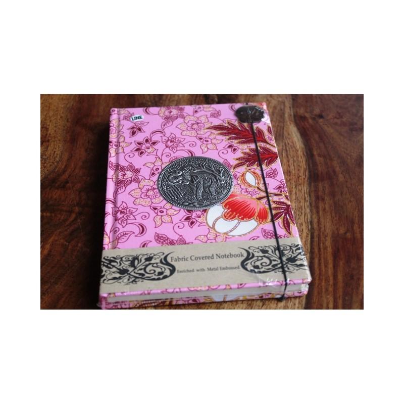 Tagebuch Stoff Thailand mit Elefant 19x14 cm- THAI013