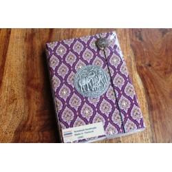 Tagebuch Stoff Thailand mit Elefant 19x14 cm- THAI014