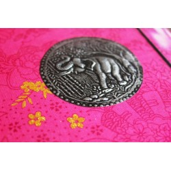 Diary fabric Thailand with elephant 19x14 cm - THAI015