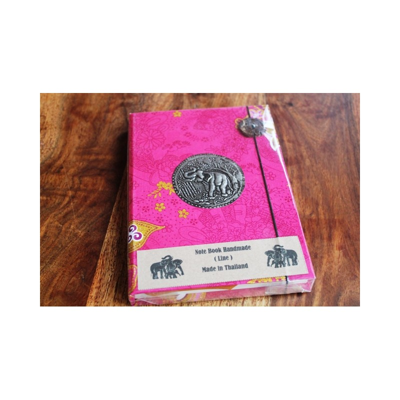 Tagebuch Stoff Thailand mit Elefant 19x14 cm- THAI015