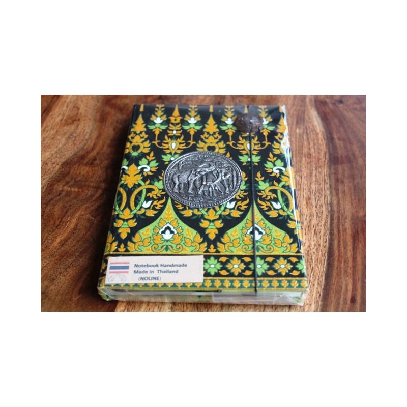 Tagebuch Stoff Thailand mit Elefant 19x14 cm- THAI016