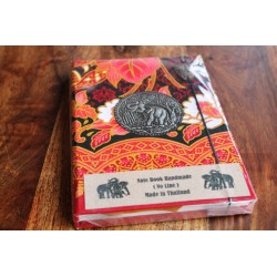 Diary fabric Thailand with elephant 19x14 cm - unlined - THAI017