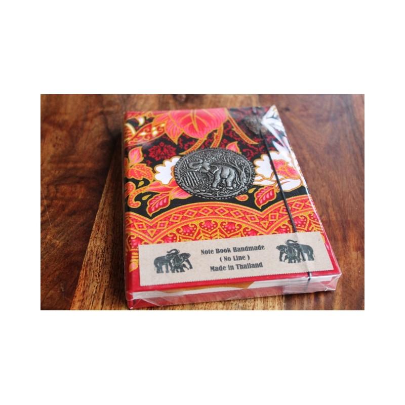 Tagebuch Stoff Thailand mit Elefant 19x14 cm- THAI017