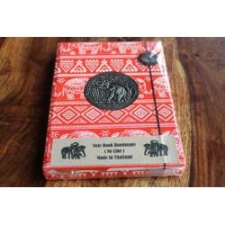 Tagebuch Stoff Thailand mit Elefant 19x14 cm - unliniert - THAI018