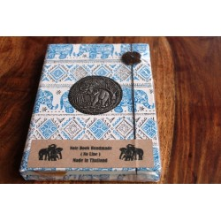 Diary fabric Thailand with elephant 19x14 cm - unlined - THAI019