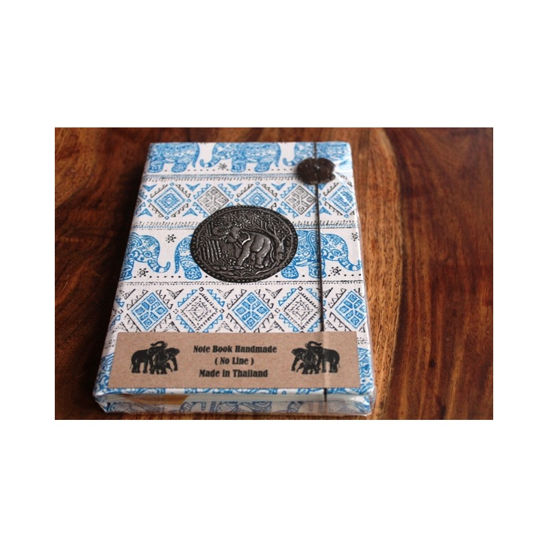 Tagebuch Stoff Thailand mit Elefant 19x14 cm- THAI019